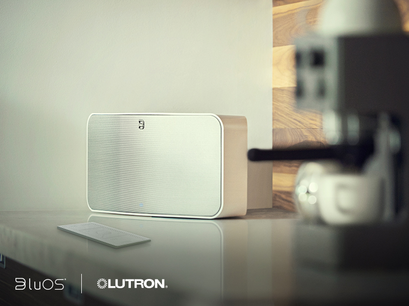 BluOS® Wireless Music Streaming System Can Now Easily Integrate with Select Lutron Lighting Control Systems