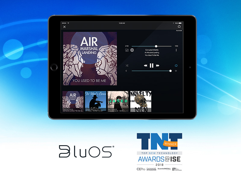 BluOS Wins Top New Technology Award for Best Wireless A/V Solution