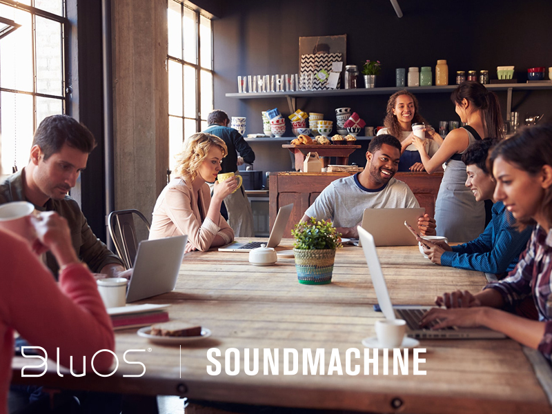 BluOS Partners with SoundMachine – A Music Streaming Service for Business